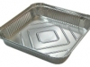 Aluminium tray - Should be emptied. Good if container can be rinsed.