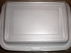 Styrofoam food container - Cannot be recycled.