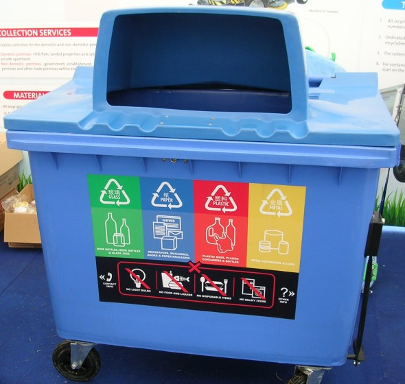 Recycling bin for HDB estates