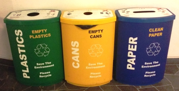 Recycling bins at NUS