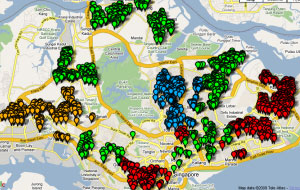 Map of Recycling Bins