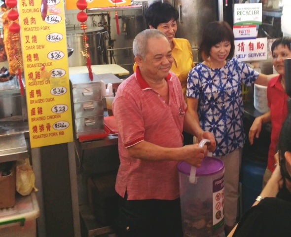 Food waste recycling trial - Tiong Bahru 1