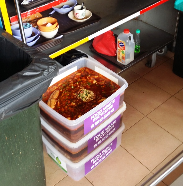 Food waste recycling trial - Tiong Bahru 4