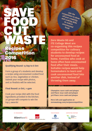 Save Food Cut Waste Recipes Competition 2016