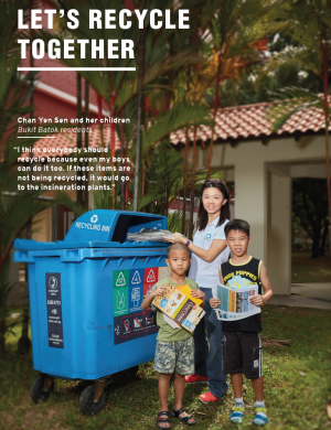 Let's Recycle Together aims to encourage more HDB residents to use the blue recycling bins and recycle correctly